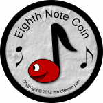 Music Funny Money - Eighth Note Coin