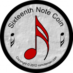Music Funny Money - Sixteenth Note Coin