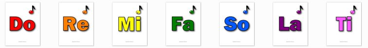 Colored Solfege